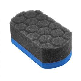 CHEMICAL GUYS EASY GRIP SOFT HEX-LOGIC APPLICATOR PAD BLUE
