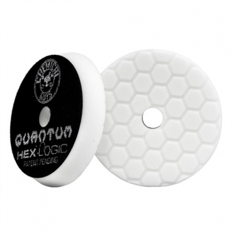 CHEMICAL GUYS HEX-LOGIC QUANTUM LIGHT-MEDIUM POLISHING PAD WHITE (165 mm)