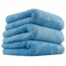CHEMICAL GUYS HAPPY ENDING EDGELESS MICROFIBER TOWEL BLUE