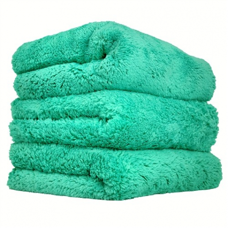 CHEMICAL GUYS HAPPY ENDING EDGELESS MICROFIBER TOWEL GREEN