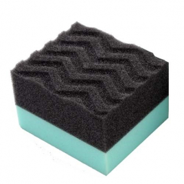 CHEMICAL GUYS DURAFOAM CONTOURED LARGE TIRE DRESSING APPLICATOR PAD WITH WONDER WAVE TECHNOLOGY
