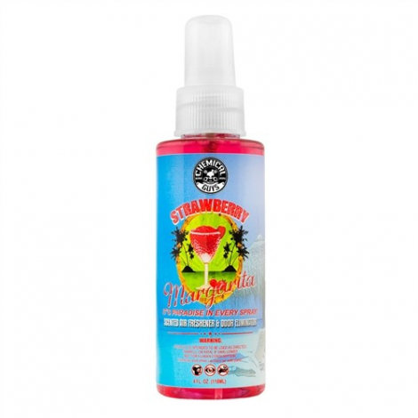 CHEMICAL GUYS STRAWBERRY MARGARITA SCENT PREMIUM AIR FRESHENER & ODOR ELIMINATOR (118 ml)
