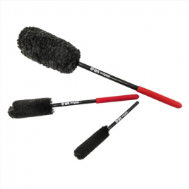 CHEMICAL GUYS EXTENDED REACH WHEEL GERBILS WHEEL & RIM BRUSHES (3 HARJA)
